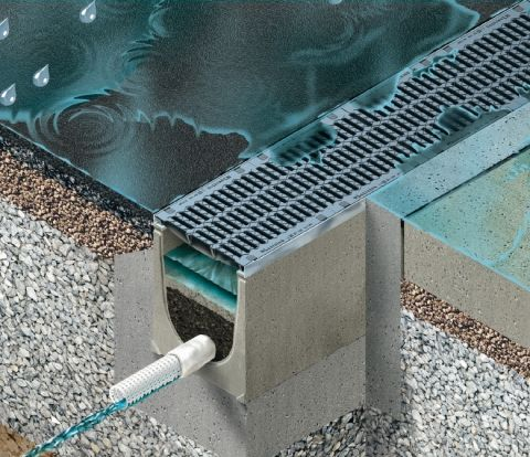 DRAINFIX CLEAN filter substrate channel | Rainwater treatment